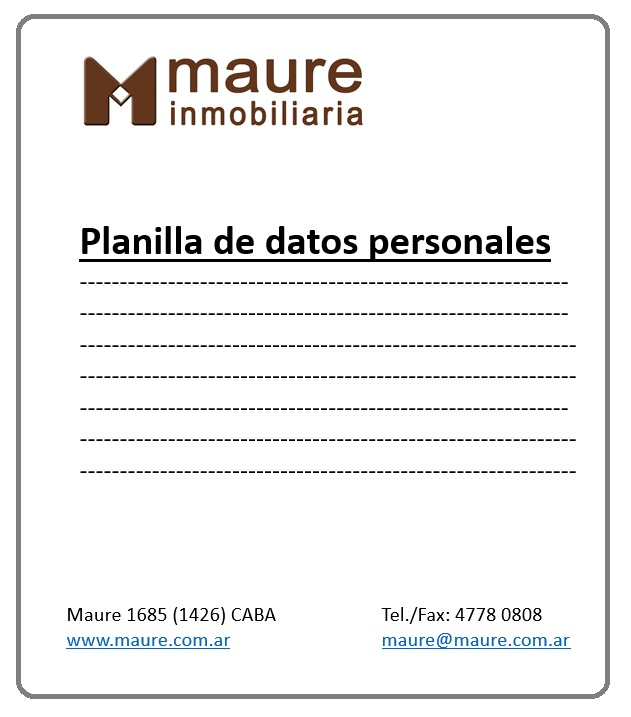 Documentación para reservar un alquiler